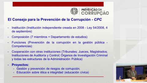 O Tribunal de Contas de Portugal - Curso monográfico Os sistemas de integridade institucional nas administracións públicas